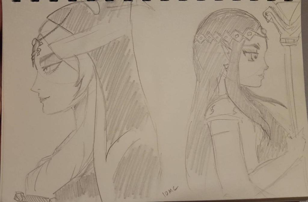 10 min challenge Zelda dark princess by jeez894