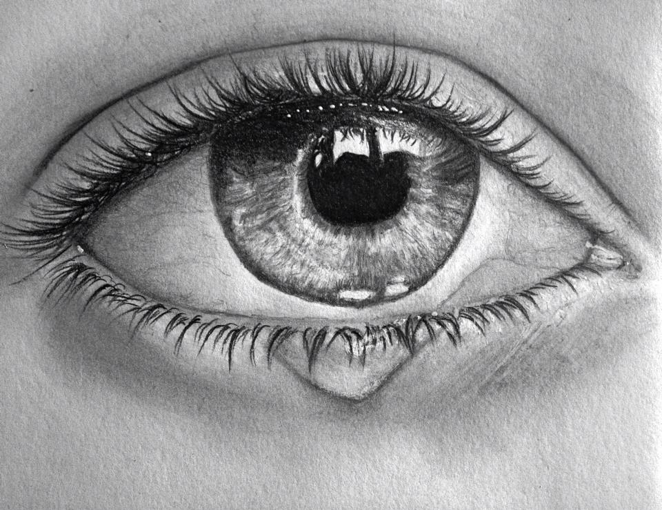 similiar eye with tear sketch keywords