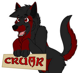 Cruor Bloodpaw Character Badge 2014 by CodeXANA