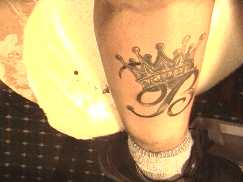 Crown with Name Tattoos Designs