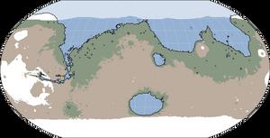 Terraformed Mars Basemap
