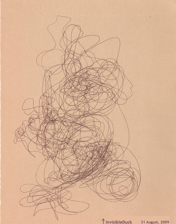 Contour Line Drawing With Wire : Blind contour wire sculpture by invisibleduck on deviantart