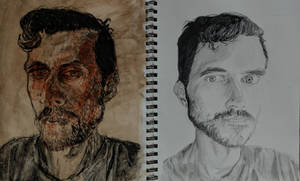 sketchbook: double self portrait