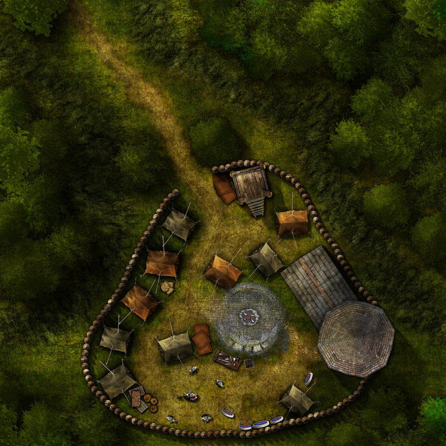 Iron Tower Mercenary Camp. by eViLe-eAgLe