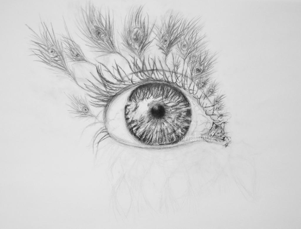 peacock lashes in progress by Jarredsart