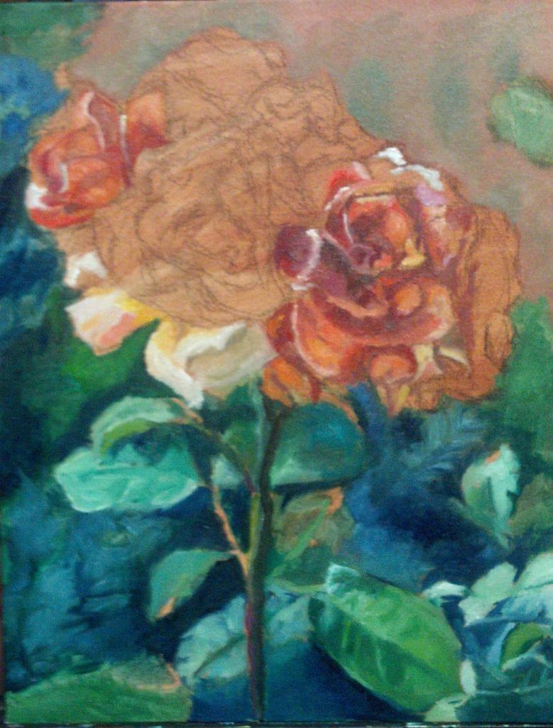 Roses WIP by Jarredsart