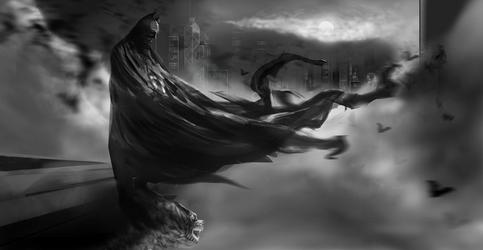 Dark Knight, Dark Night II by dez