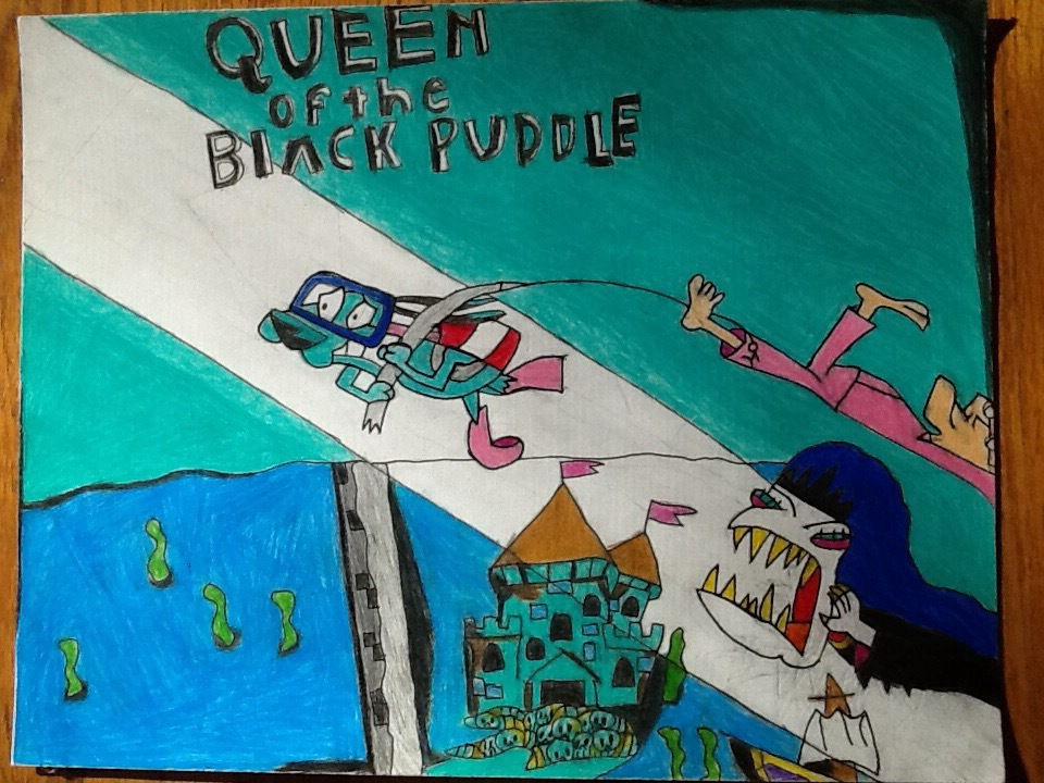 courage the cowardly dog queen of the black puddle by