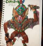 Camazotz: Mayan death bat of Xibalba by Brandondeath777