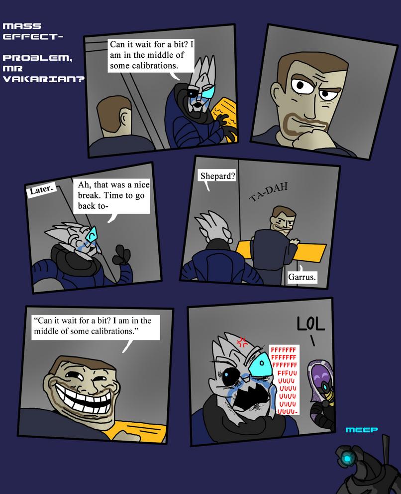 Mass Effect - Problem, Mr Vakarian? by Finjix
