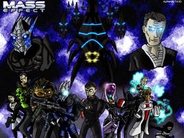 The Shepard and his team vs evil by Finjix