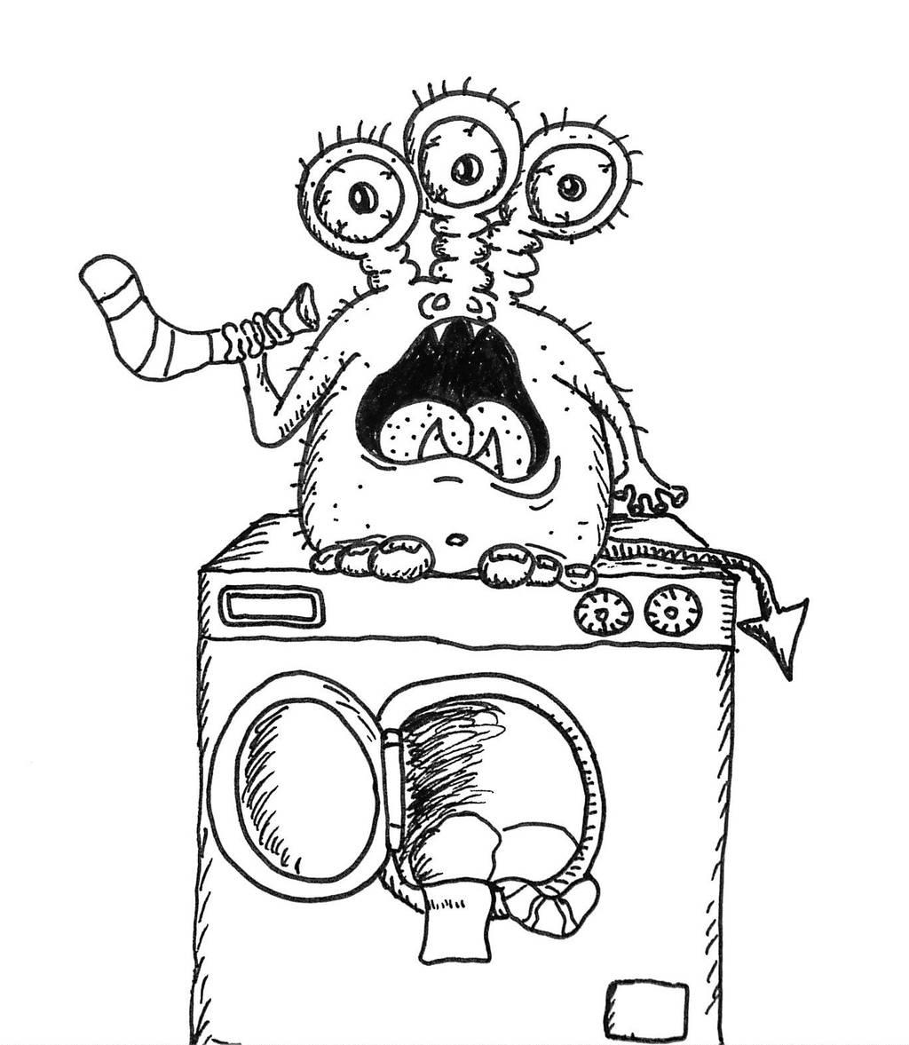 Laundry monster by chbj