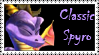 Classic Spyro Stamp by LoveAnimeAndCartoons