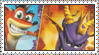 Crash and Spyro Superpack Stamp by LoveAnimeAndCartoons