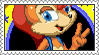 Sally Acorn in Sonic the Hedgehog Stamp by LoveAnimeAndCartoons