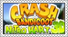 Crash Bandicoot Nitro Kart 3D Stamp