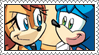 Sally x Sonic Stamp by LoveAnimeAndCartoons