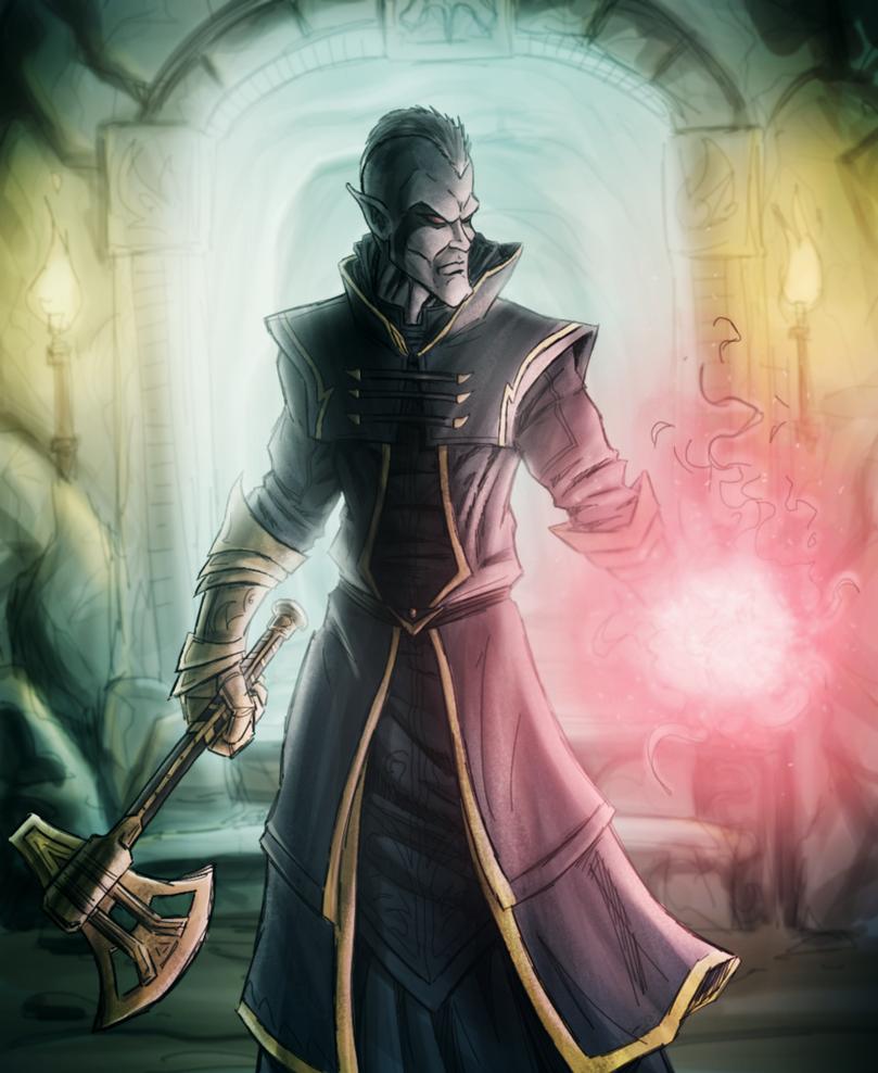 Skyrim - dark elf by bryansclark