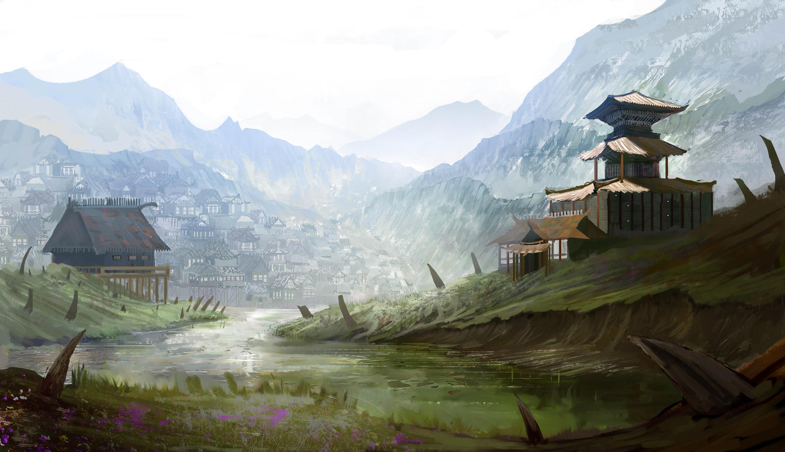 japan village by B-Zuleta