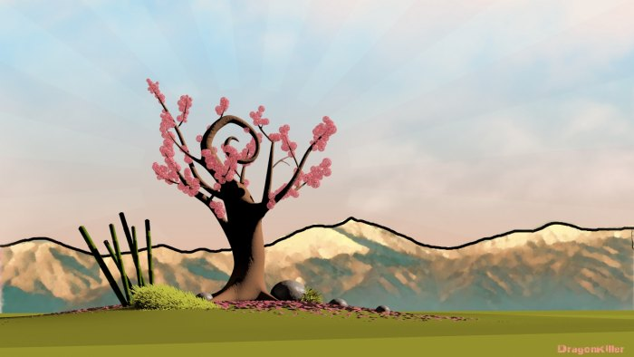 Okami Cherry Tree By Loutrageta On Deviantart