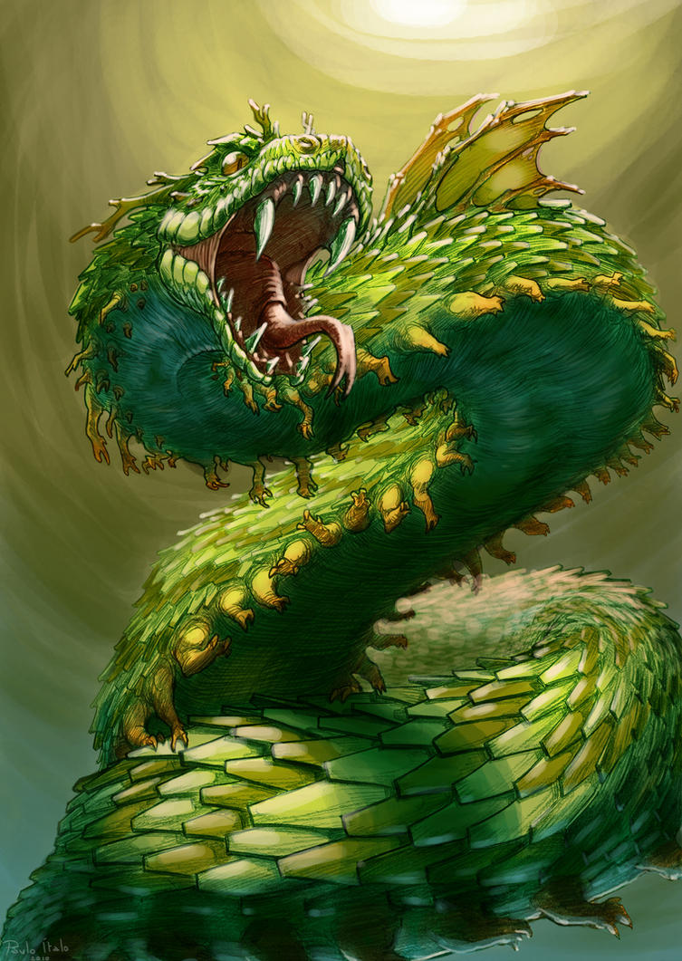 Mythological Dragons: Mythical Creatures: African Dragon