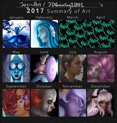 Art Summary of 2017! by JDGaming2001