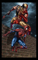 Wolverine and Spiderman by iergoth