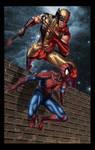 Wolverine and Spiderman