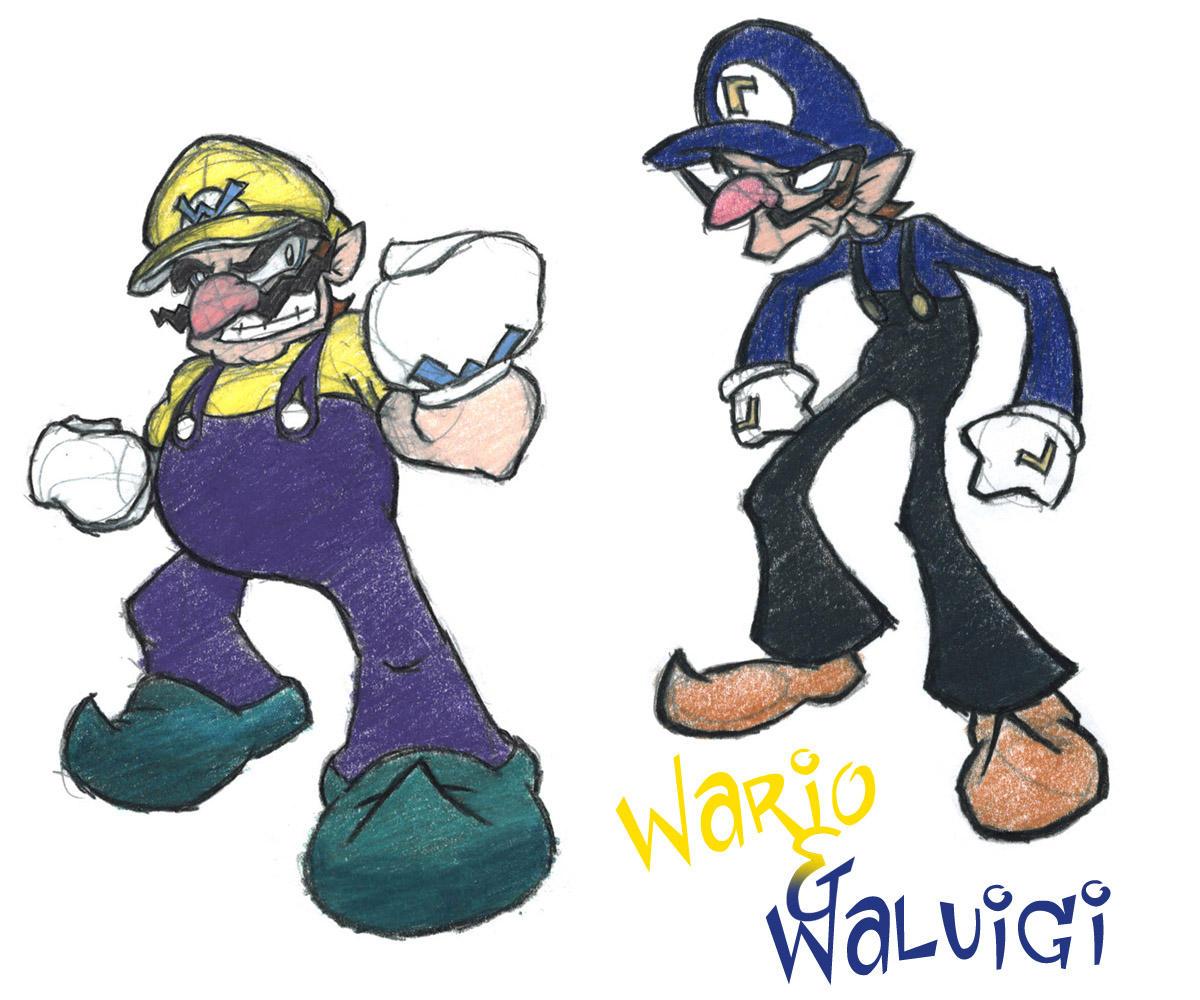 Wario_waluigi.color By ArcZero On DeviantArt