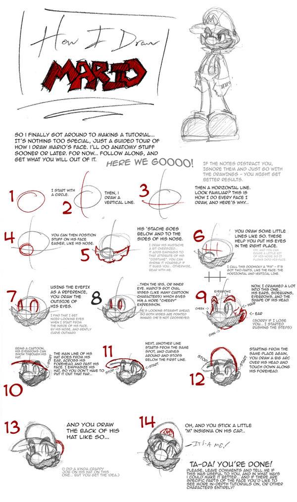 How I Draw Mario by ArcZero