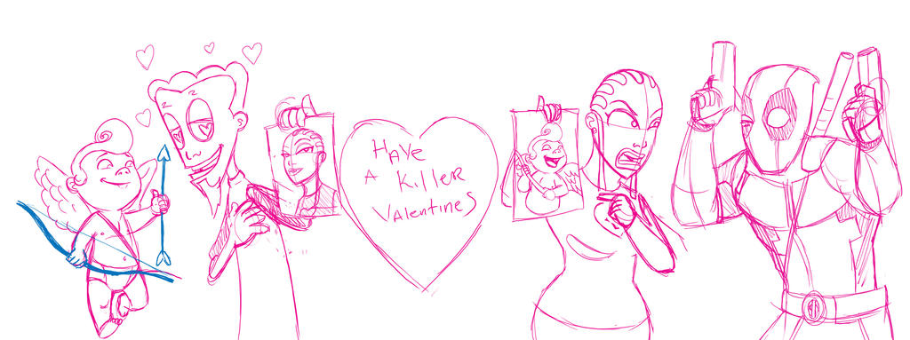 Deadly Valentine SKETCH by Krocrasher