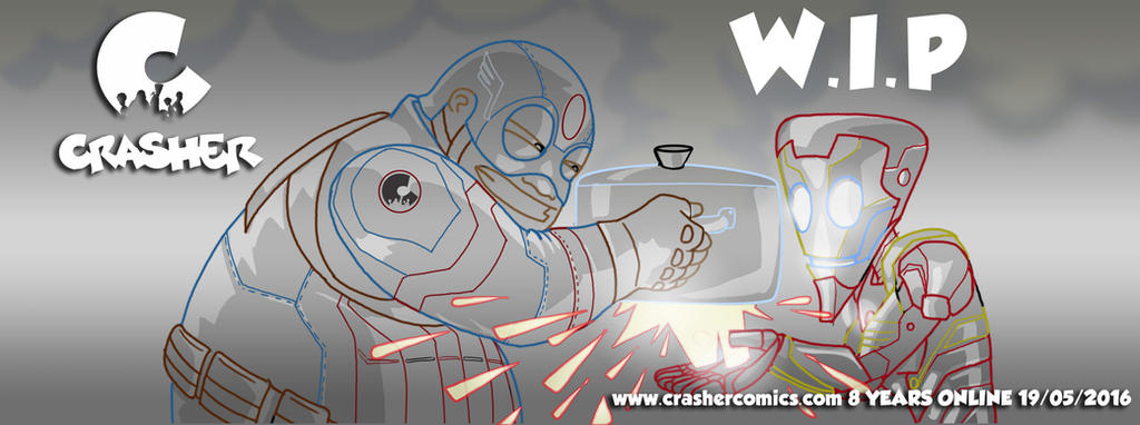 Crasher Comics 8 years online by Krocrasher