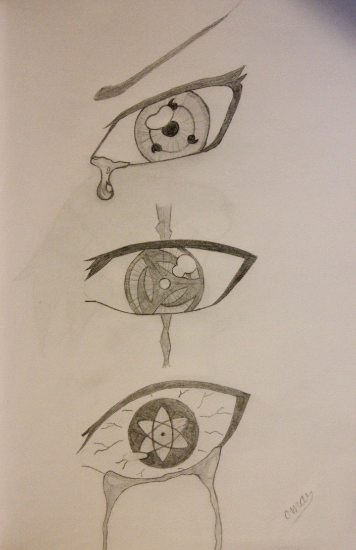 (Mangekyou) Sharingan Drawing - Naruto by ojkadir on ...