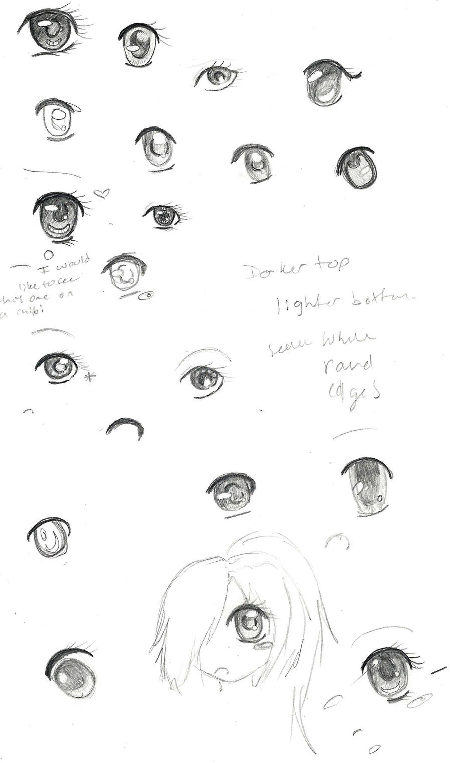 Eye Sketch Practice~ by Cometblack