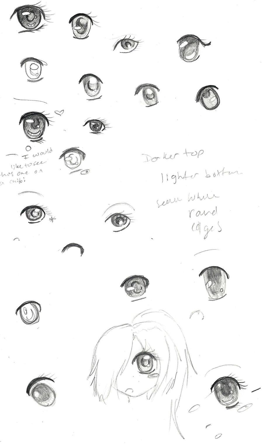 Eye Sketch Practice~ by Cometblack