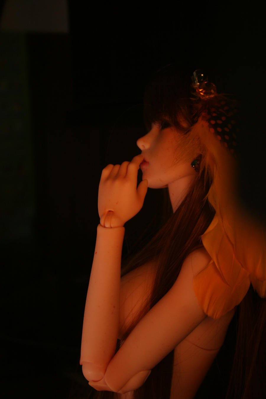 Pondering in the dark... by Cometblack