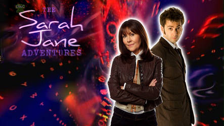 10th Doctor and Sarah Jane by ElijahVD