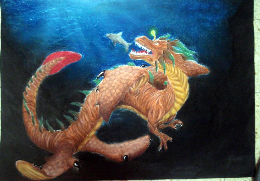 dragon underwater by ItsMyUsername