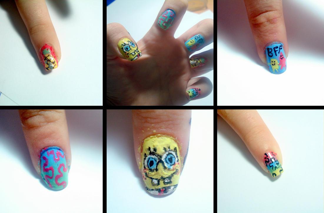 Spongebob nails by ItsMyUsername