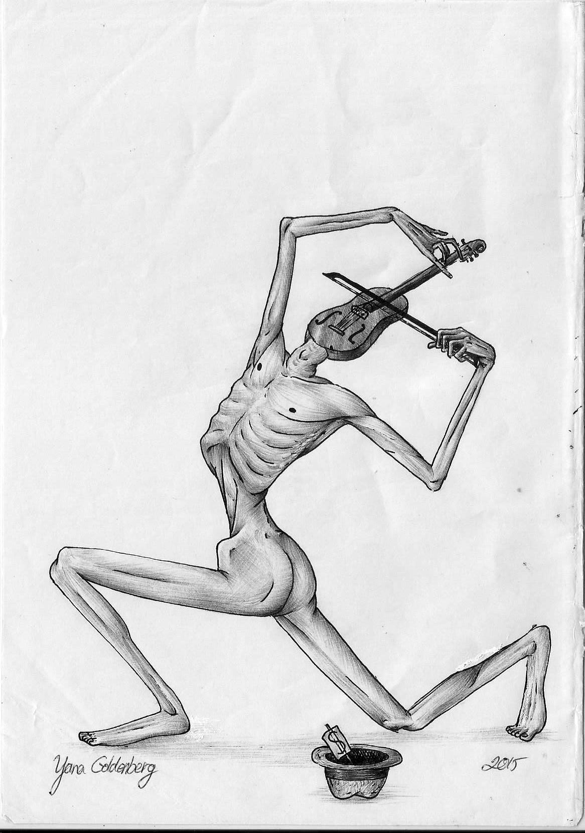 The poor violinist by ItsMyUsername