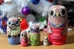Matryoshka owl family #2 by ItsMyUsername
