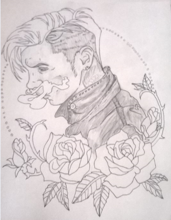 Andy Biersack drawing WIP by xRainSuicidex