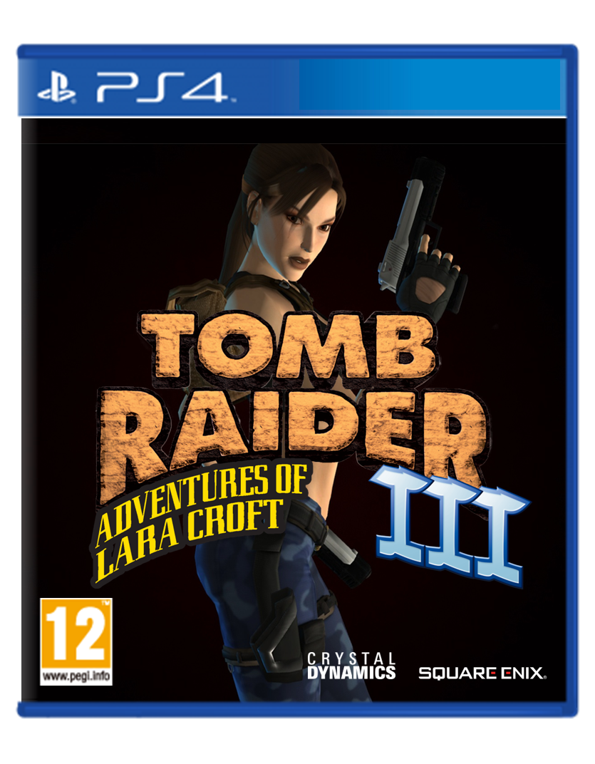 Tomb Raider 3 Cover PS4 Concept by TheCoverUploader on