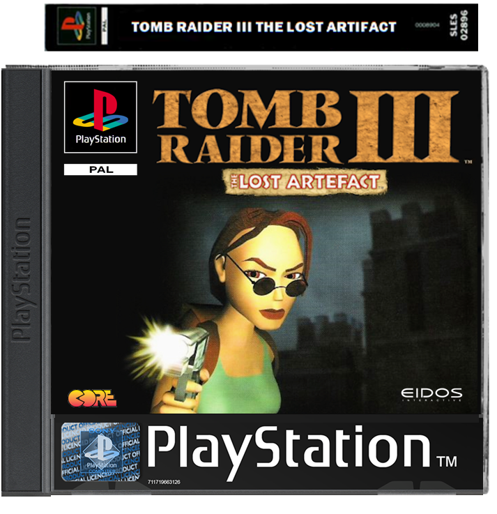 Tomb Raider 3 The Lost Artifact Expansion Ps1 Psx By