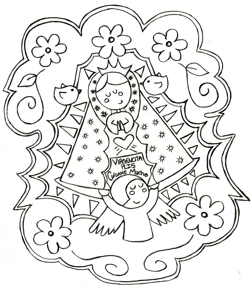Virgencita De Guadalupe Coloring Pages