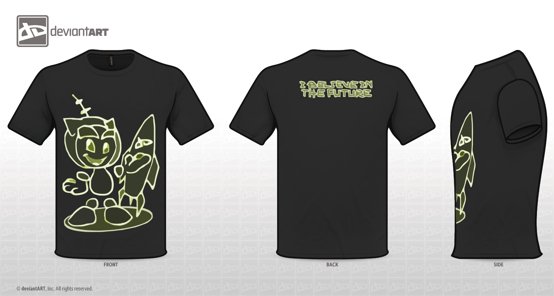 retro future shirt design by 14th-division