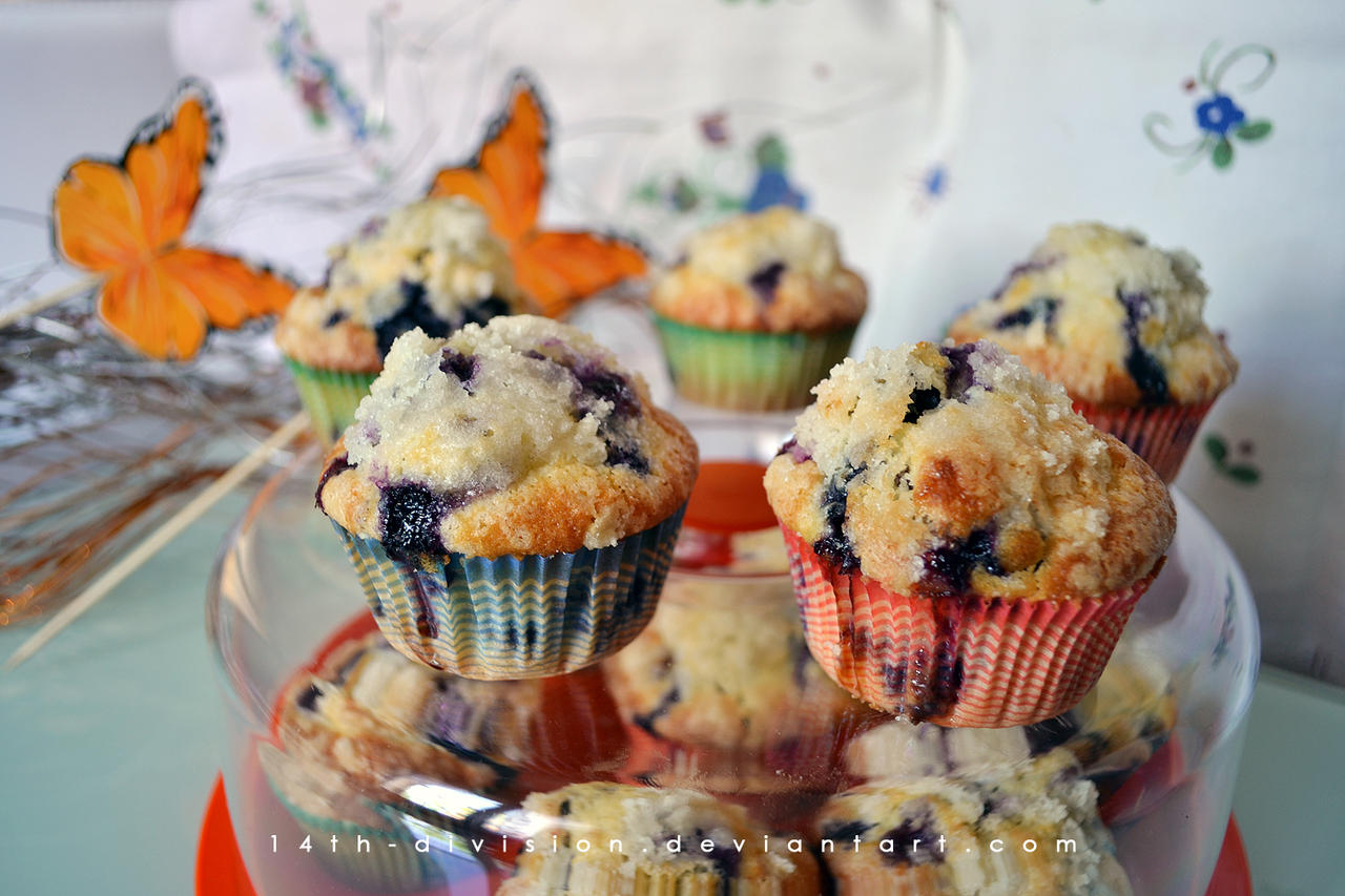 Blueberry Streusel Muffins by 14th-division
