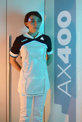 Kara cosplay from Detroit: Become Human