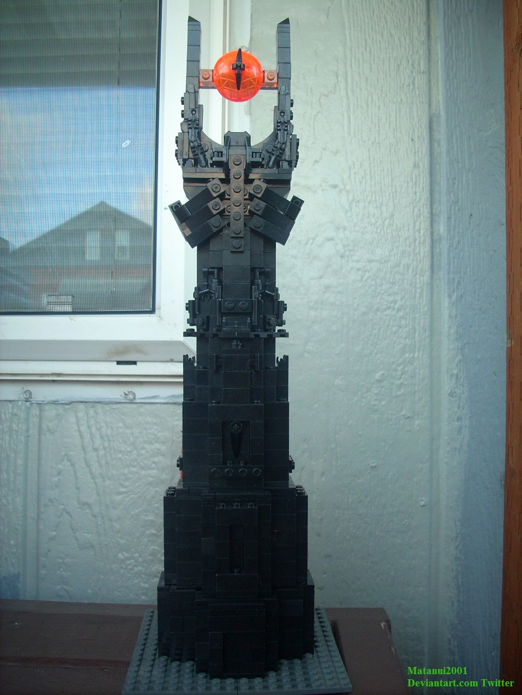 The Lego Barad-dur: Prototype by matanui2001