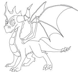 Spyro..line drawing